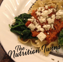 Whole Wheat Pasta with Spinach, Pumpkin and Feta