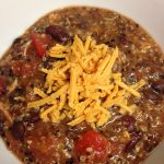 Chili with shredded cheese